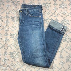 COH Size 26 High Waist Retro Slim Roll Up Jeans